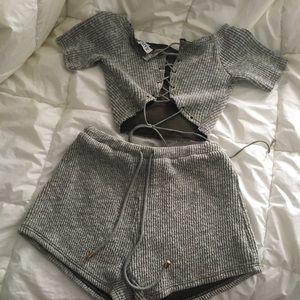 Sabo Skirt Ketta Ribbed Set